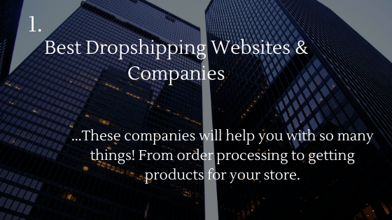 On these images, I wrote down a small summary for each dropshipping resource. I will write them down in the Alt texts for you.  Dropshipping websites and companies will help you with so many things. From order processing to getting products for your store