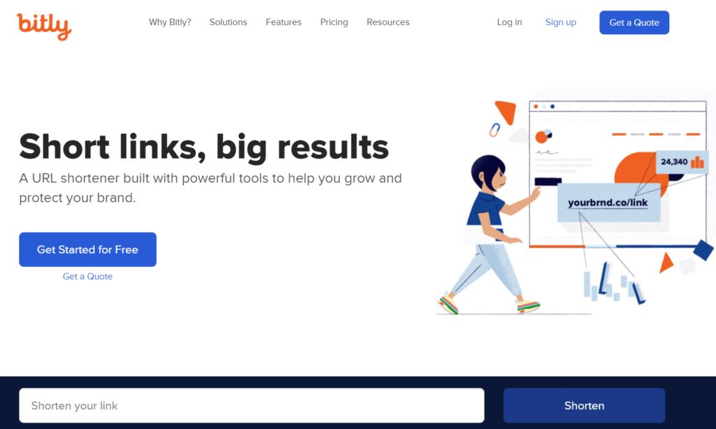 Bitly homepage