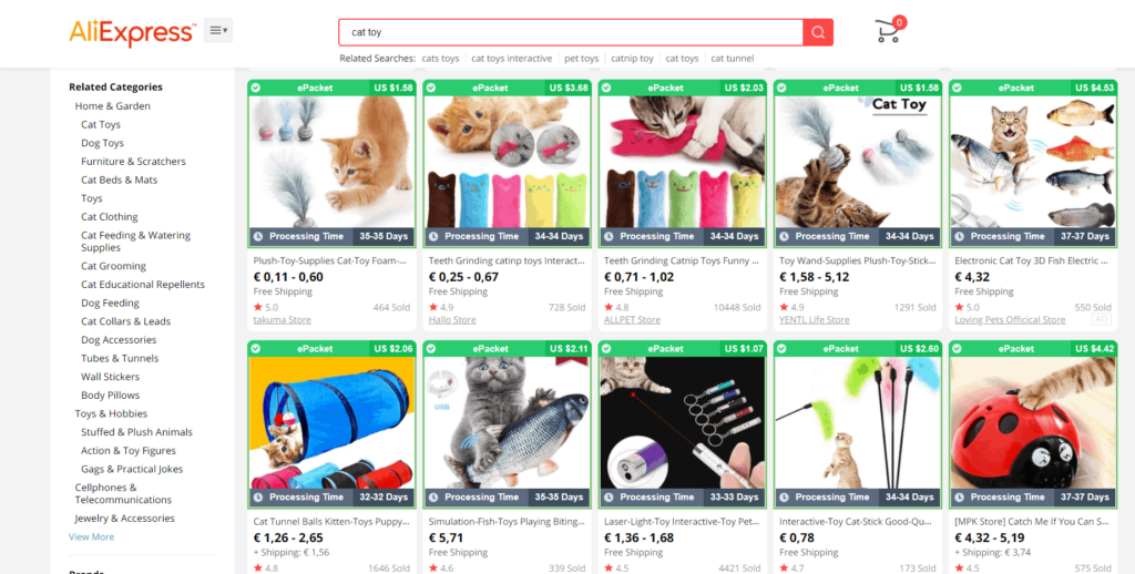 Pet dropshipping products Aliexpress