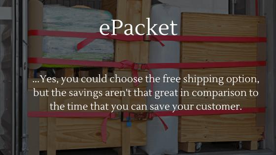 ePacket shipping option