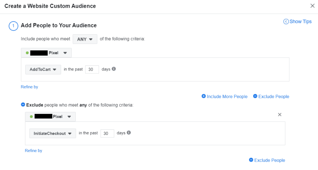 Facebook creating custom audiences