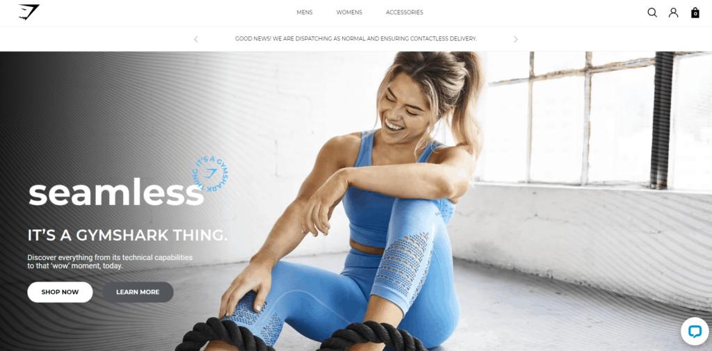Sportswear niche idea Gymshark