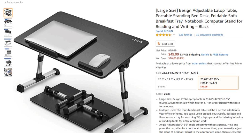 Laptop table dropshipping product idea Amazon