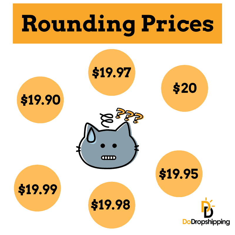 Rounding prices when dropshipping and best way to round your prices