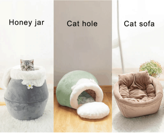 Foldable cat bed forms