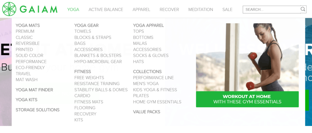 Gaiam broad range of products
