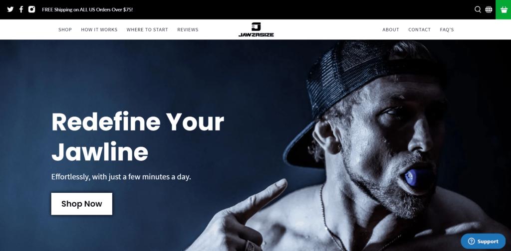Jawrsize homepage