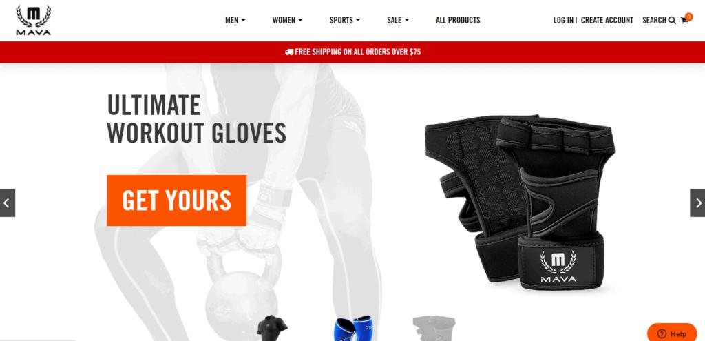 Mava Sports homepage