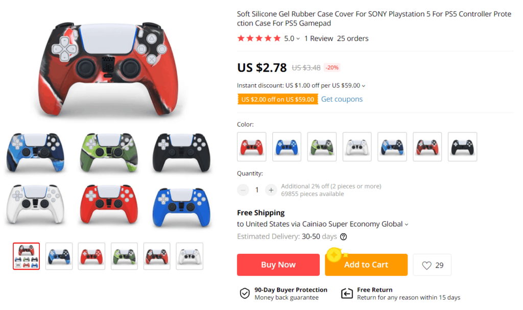 Black Friday 2020 product examples gaming controller skin cover