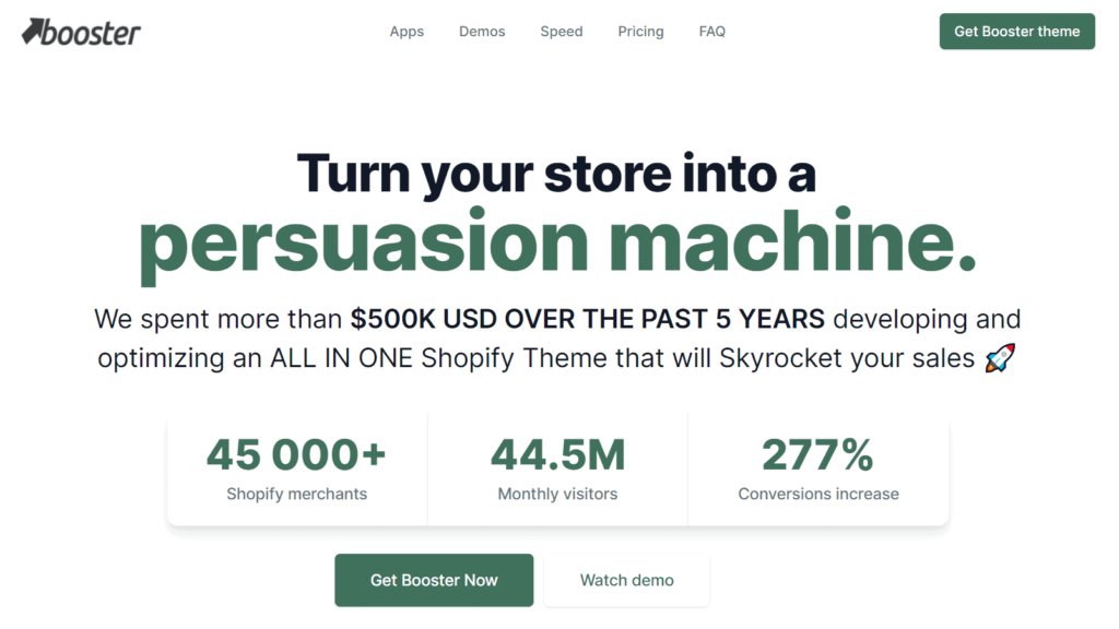 The best Shopify dropshipping themes: Booster Theme