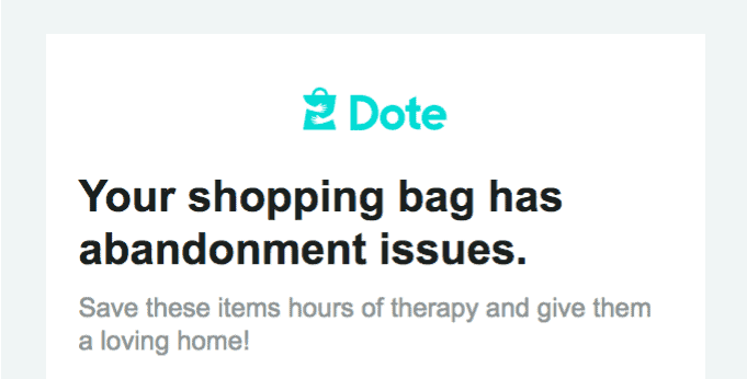 Dote leaving cart issues