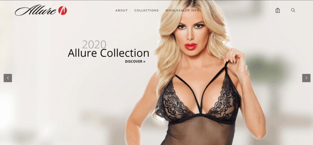 Allure Lingerie best free US niche dropshipping suppliers