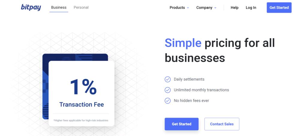 BitPay crypto transaction fees