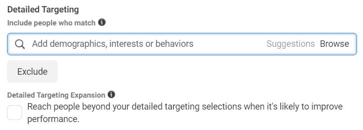 Facebook Ads detailed targeting
