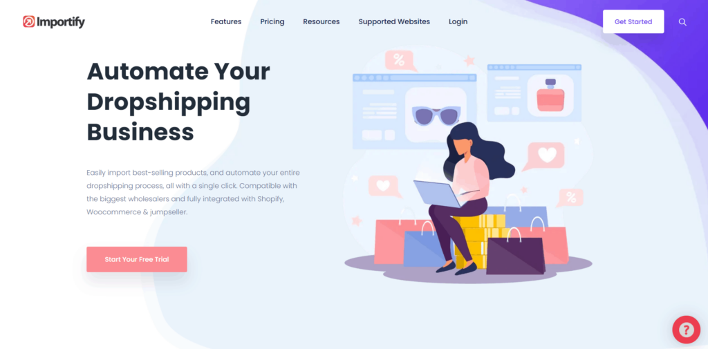 Importify homepage