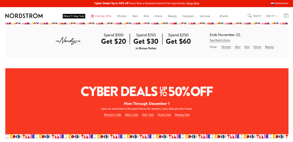 Free niche dropshipping supplier Nordstrom