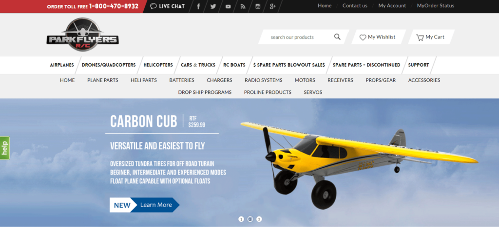 Homepage of Parkflyers RC