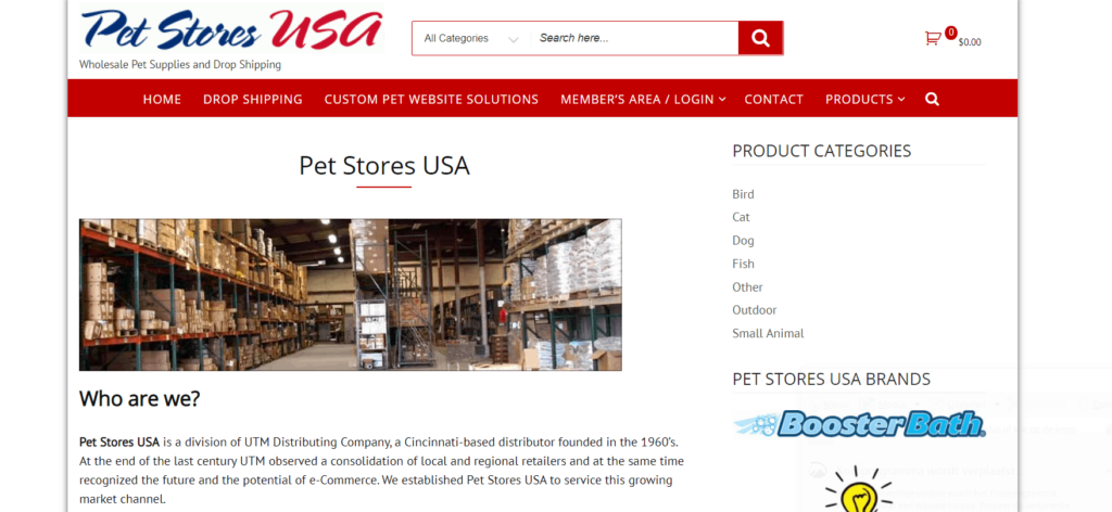 PetstoresUSA best free US niche dropshipping suppliers