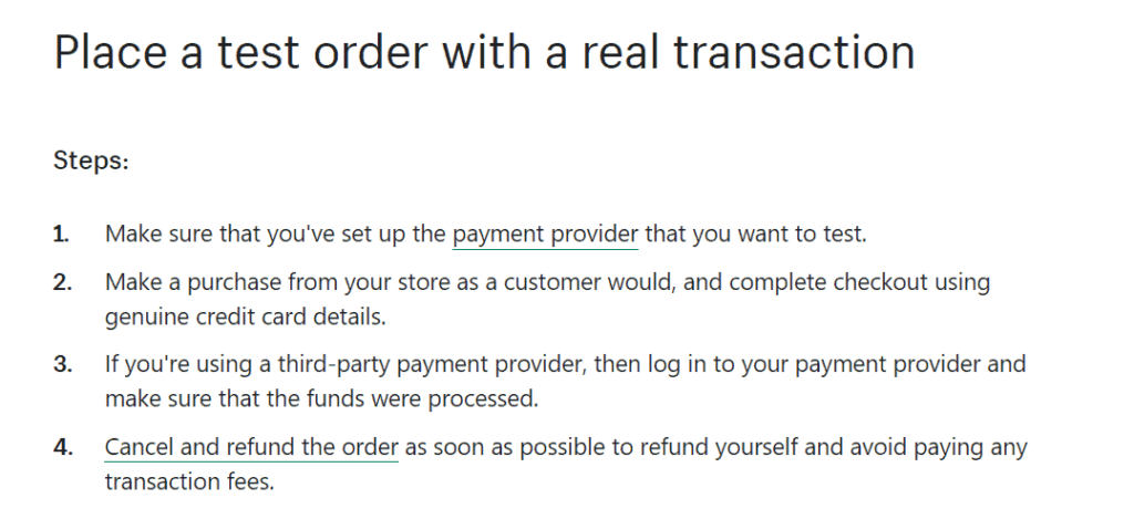 How to test your payment providers and gateways on Shopify