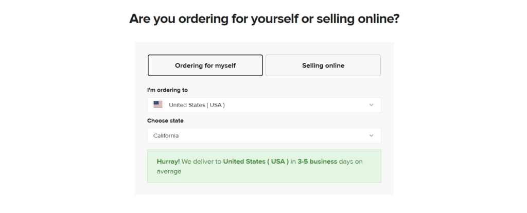 Printful shipping times to the US