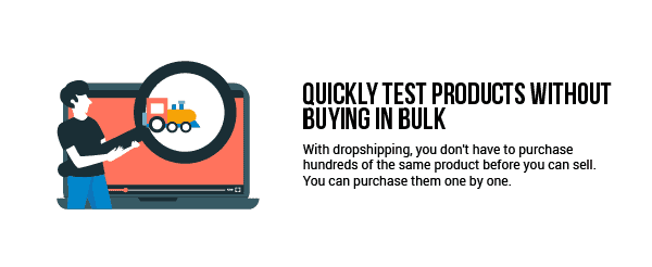 Quickly test products without buying in bulk