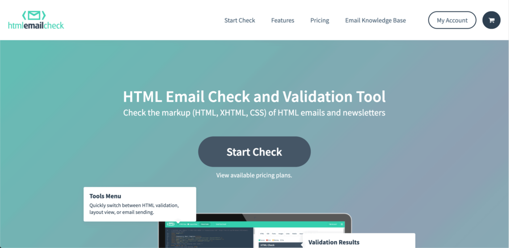 HTML checking tool homepage