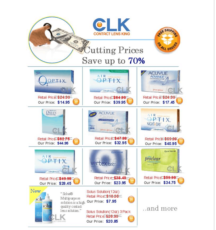Contact lens king email example