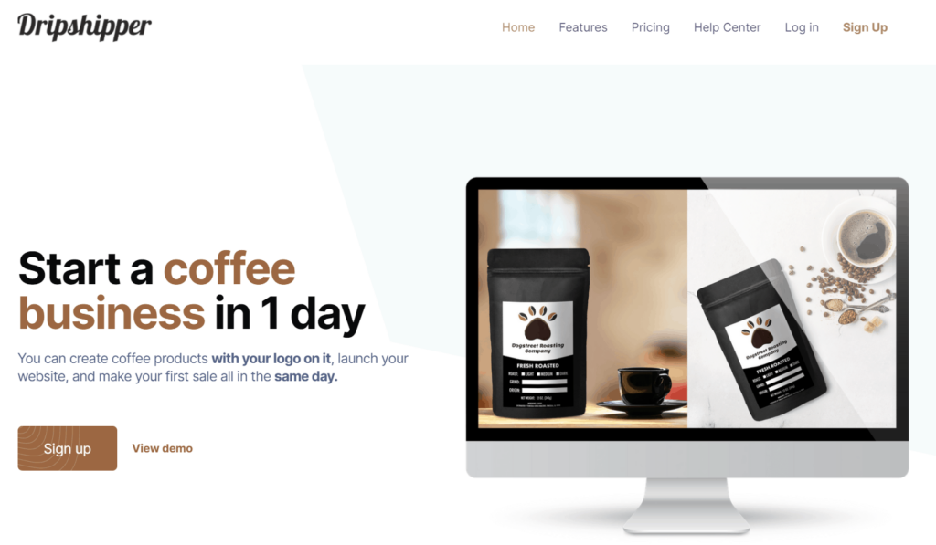 Start a coffee private label dropshipping business using Dripshipper