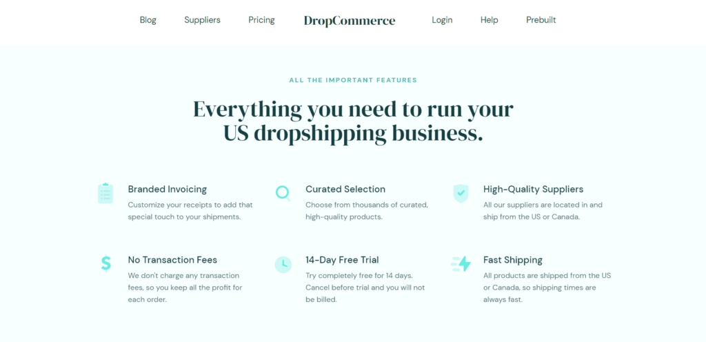 DropCommerce features
