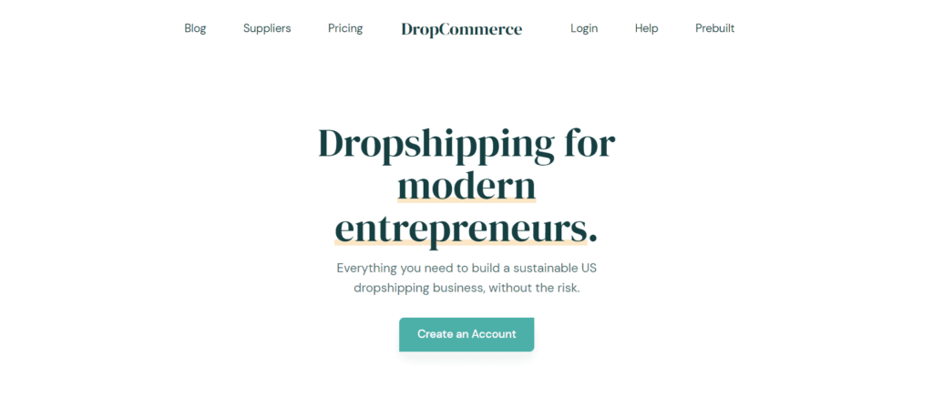 US dropshipping suppliers Dropcommerce