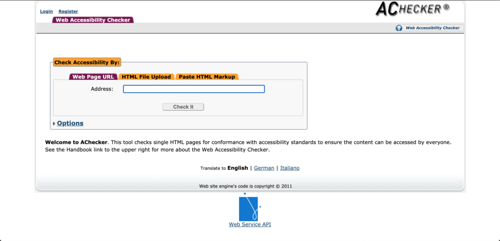 HTML readability homepage