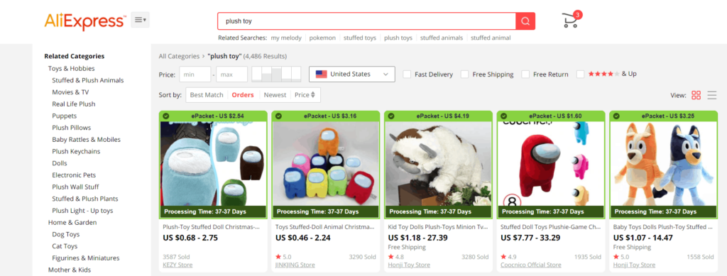 find US suppliers on AliExpress