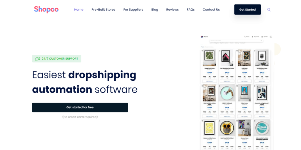 Homepage of Shopoo
