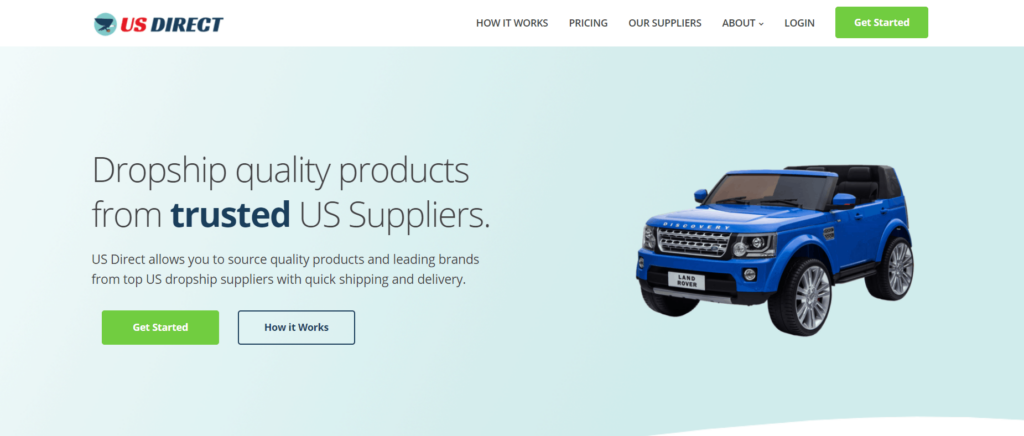 Homepage of US Direct