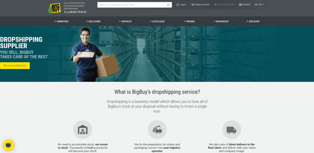 BigBuy's dropshipping service