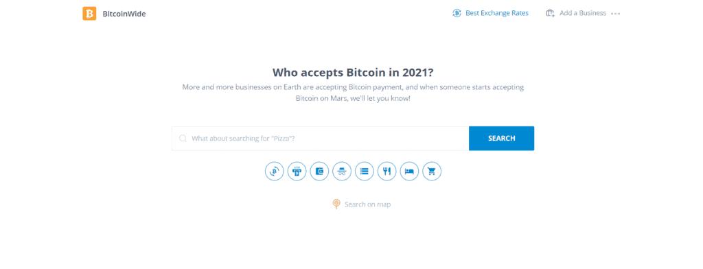 Bitcoinwide homepag