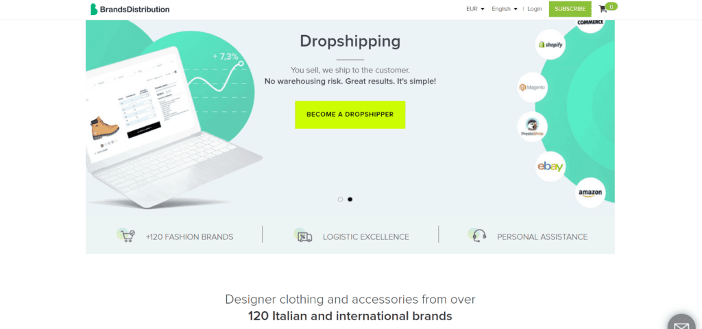 Fashion and beauty niche dropshipping suppliers Brandsdistribution