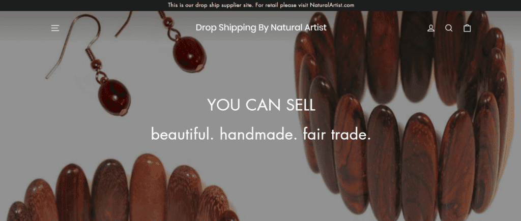 Drop Shipping By Natural Artist homepage