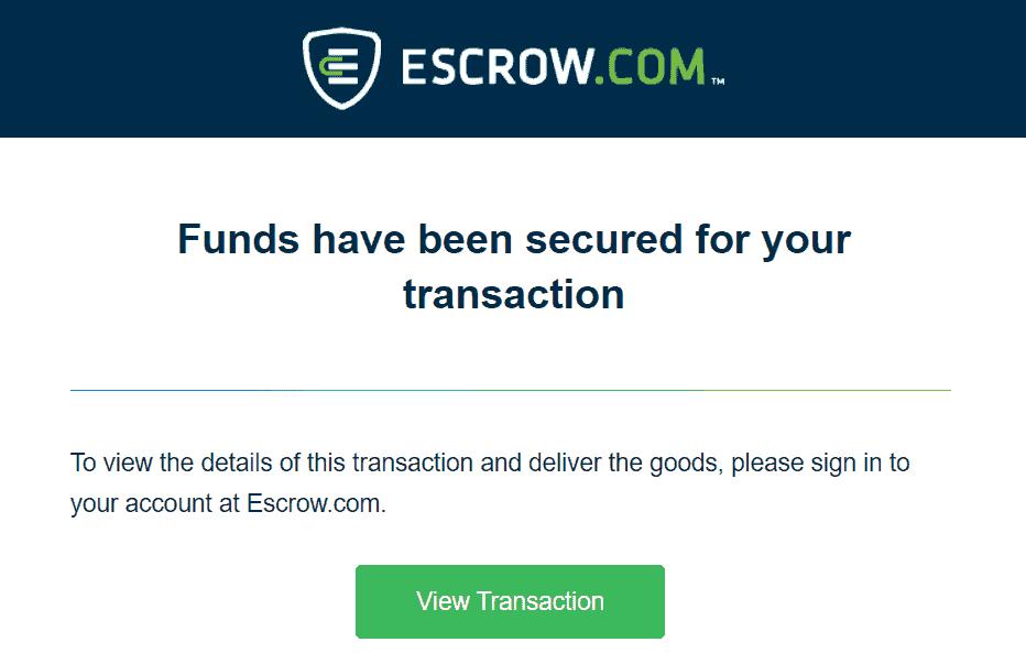 Escrow example