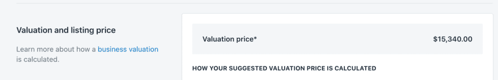 Exchange Marketplace valuation Shopify store example