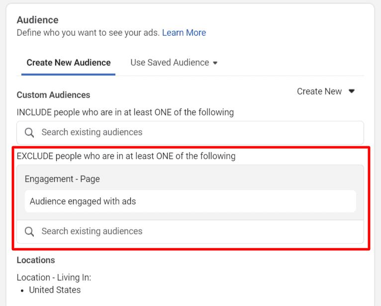 Use Facebook custom audience in targeting