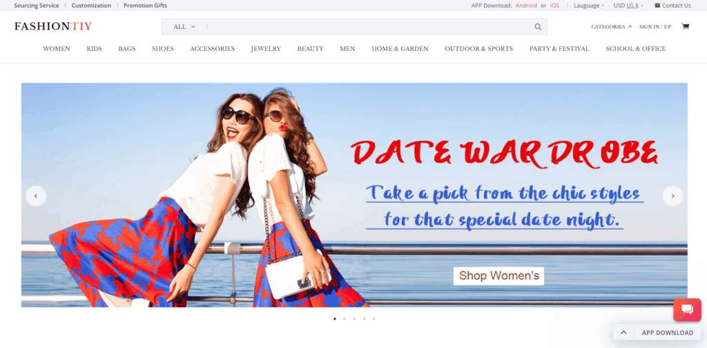 FashionTIY fashion dropshipping supplier