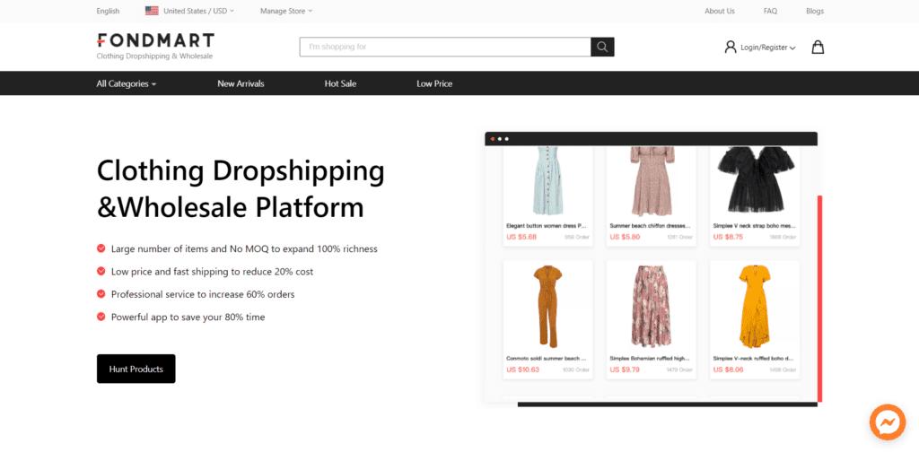 Fashion and beauty niche dropshipping suppliers Fondmart