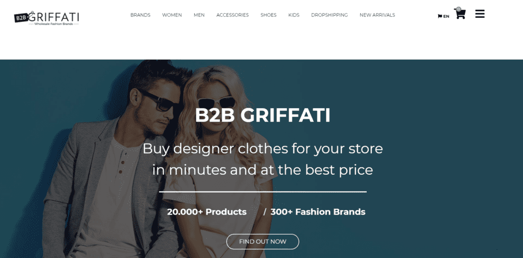 Fashion and beauty niche dropshipping suppliers Griffati