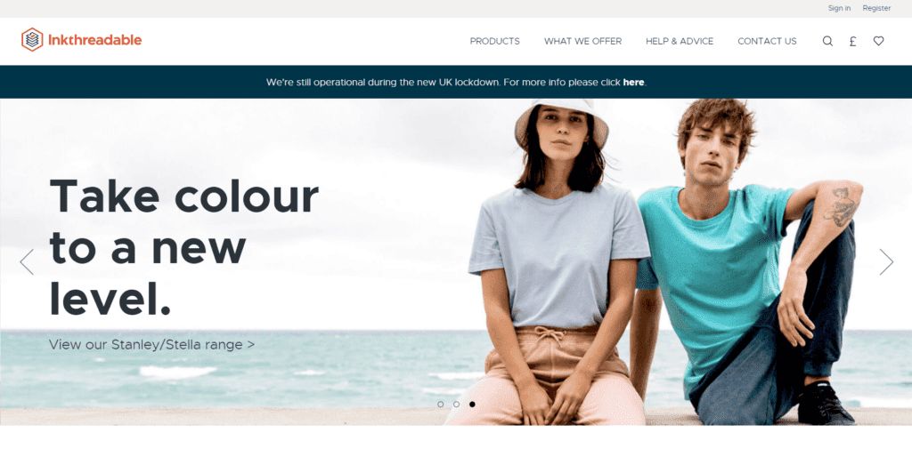 Inkthreadable homepage