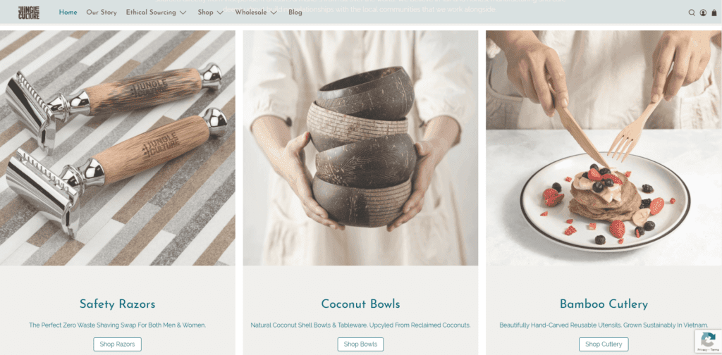 Jungle Culture organic product examples