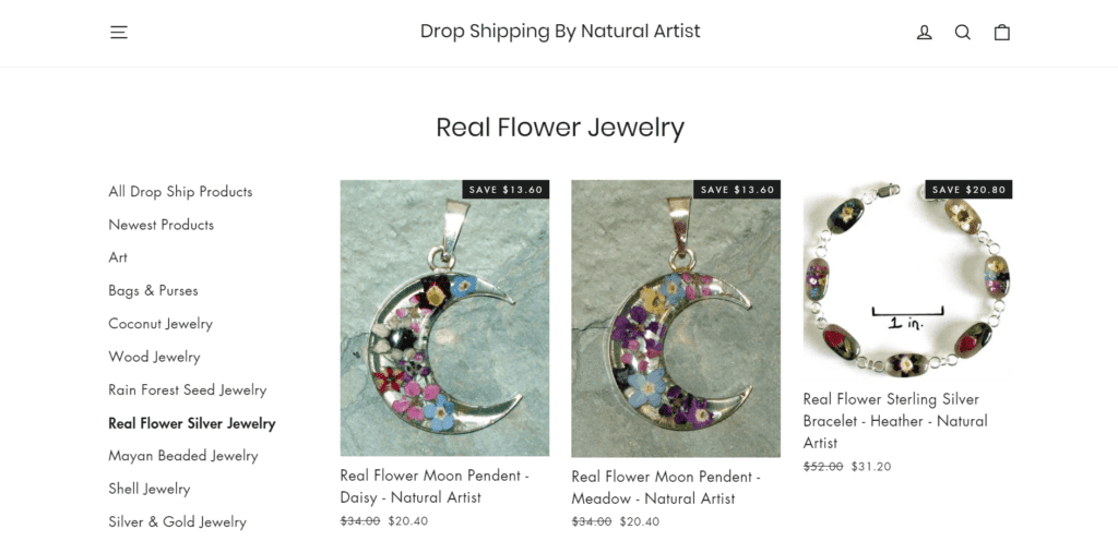 Natural Artist product examples