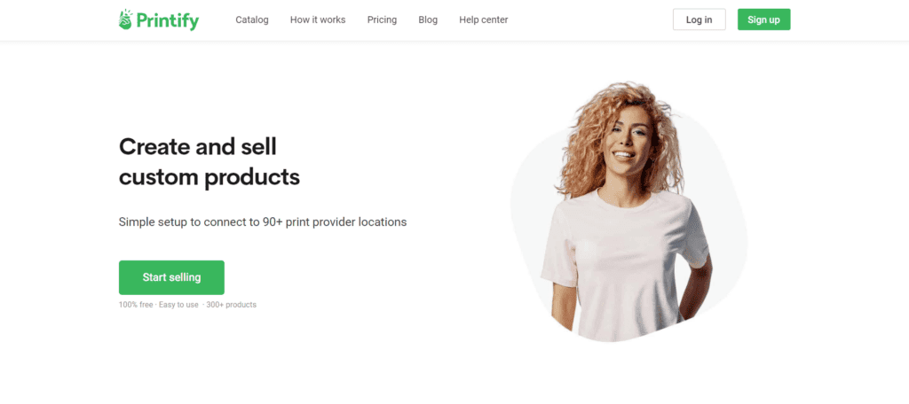 Printify homepage print on demand supplier