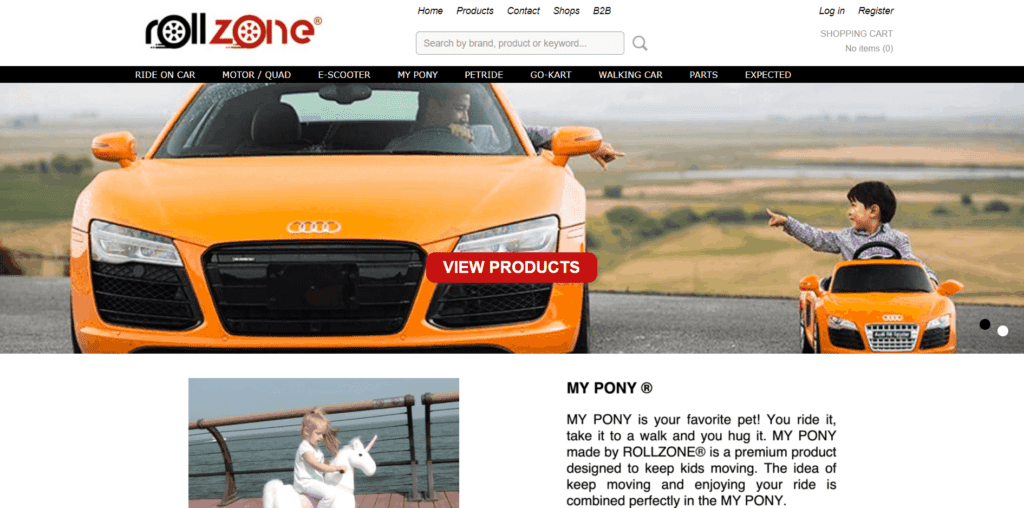 Homepage of Rollzone