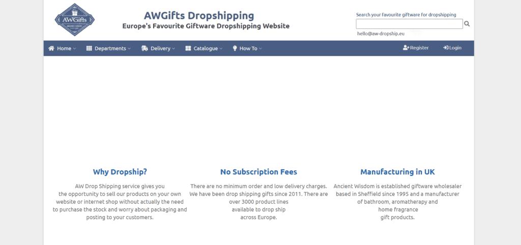 AW Dropship giftware uk supplier